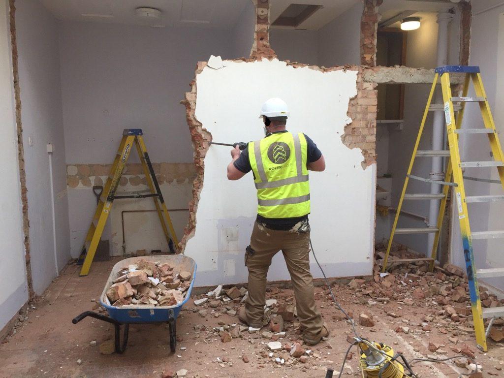 central london soft strip demolition